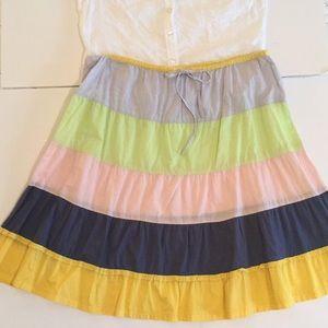FUN  adorable J Crew multi color all cotton skirt